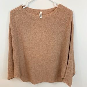 Wish list peach knit dolman- EUC s/m